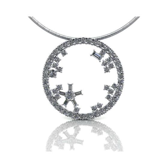 Diamond Pendant 18ct white gold
