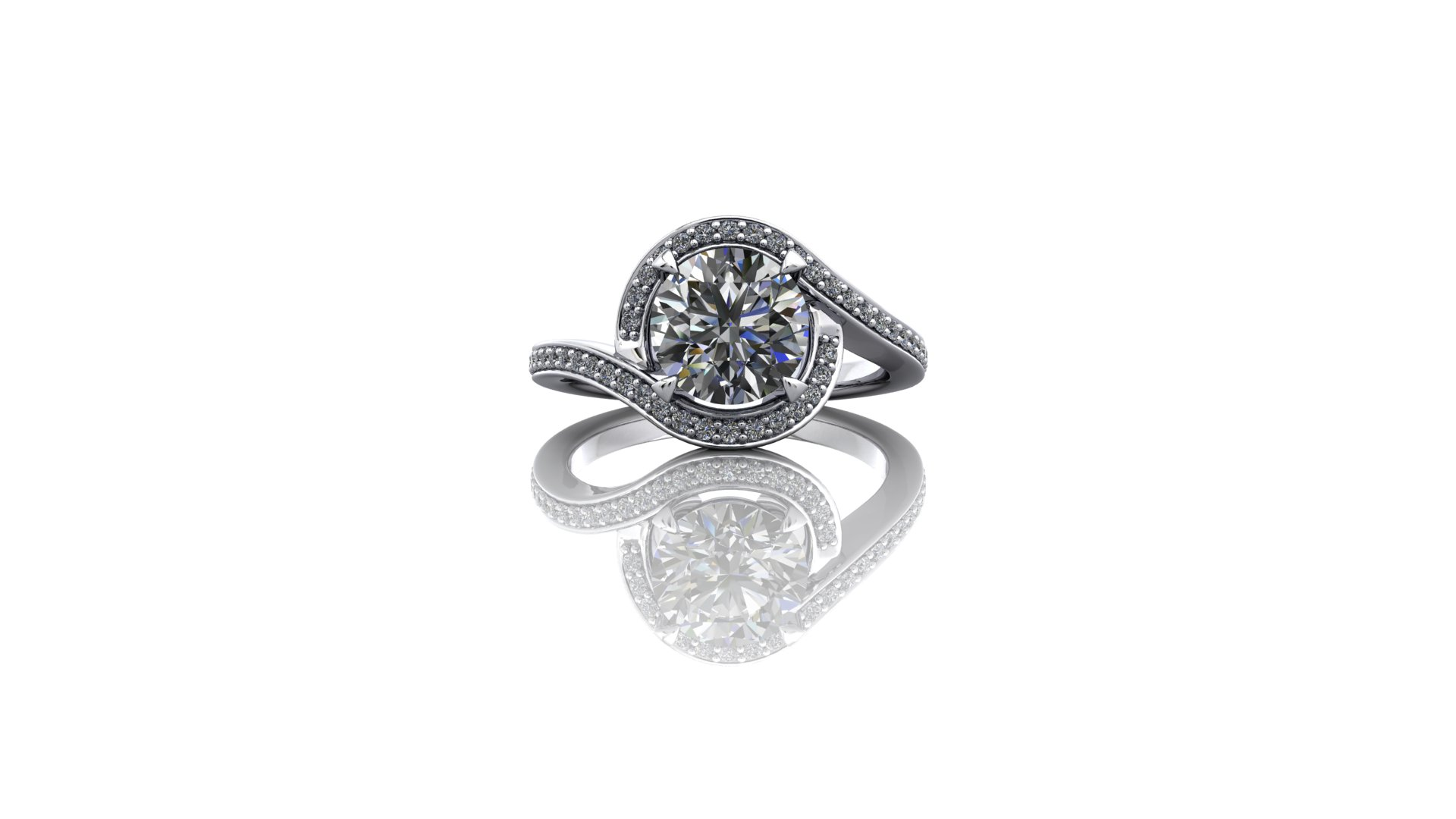 """Platinum Engagement Ring   """"Just wanted to write you a note to say thank you so much for all your help with designing, sorting and making Louise's ring. It really is perfect and we're both absolutely delighted!  """"Louise didn't have a clue either so that's great! Now we've just got to plan a wedding!"""" - Mr Kemp, Leeds"""