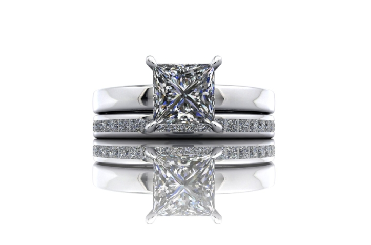 """Engagement Ring and Matching Wedding Ring   """"Chris came highly recommended for his design and production of exquisite bespoke jewellery and he hasn't disappointed. He produced two fantastic rings for us to our specific brief and certainly went above and beyond when looking after us. A HUGE thank you from Emma and I.... your workmanship and personable approach provided a wonderful experience."""" Mr Lock, Harrogate"""