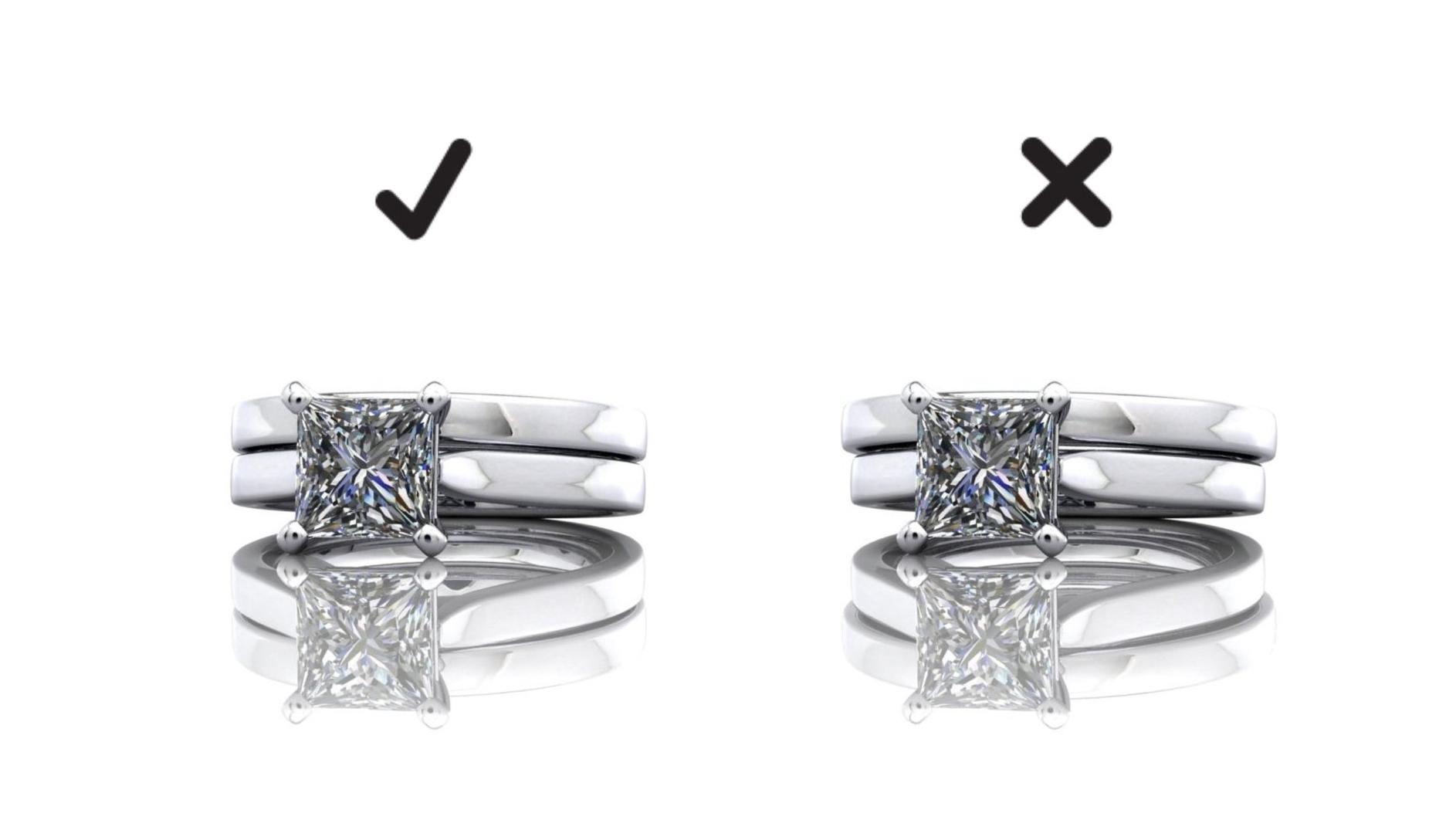 perfectly matching depth wedding rings