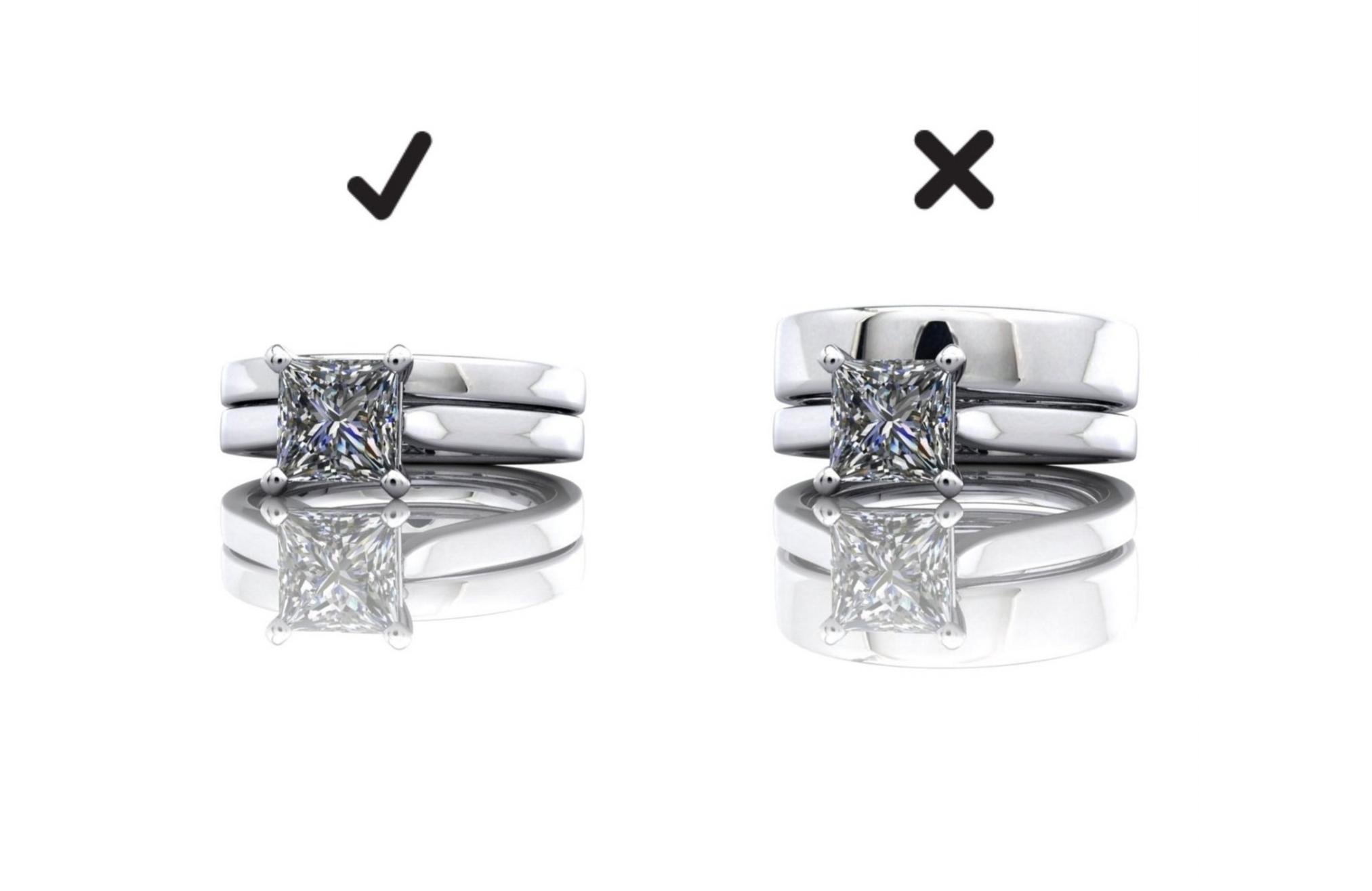 wedding band width