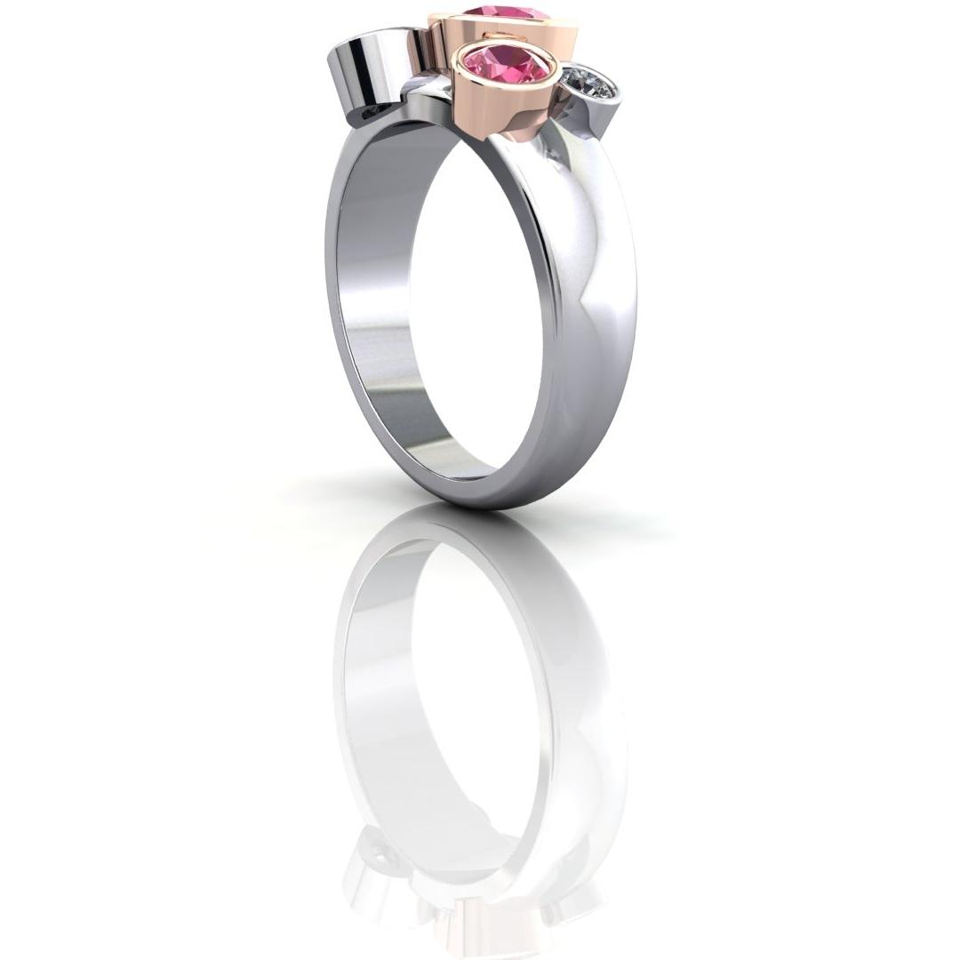 Pink Sapphire and Diamond Bubble Ring 3.jpg