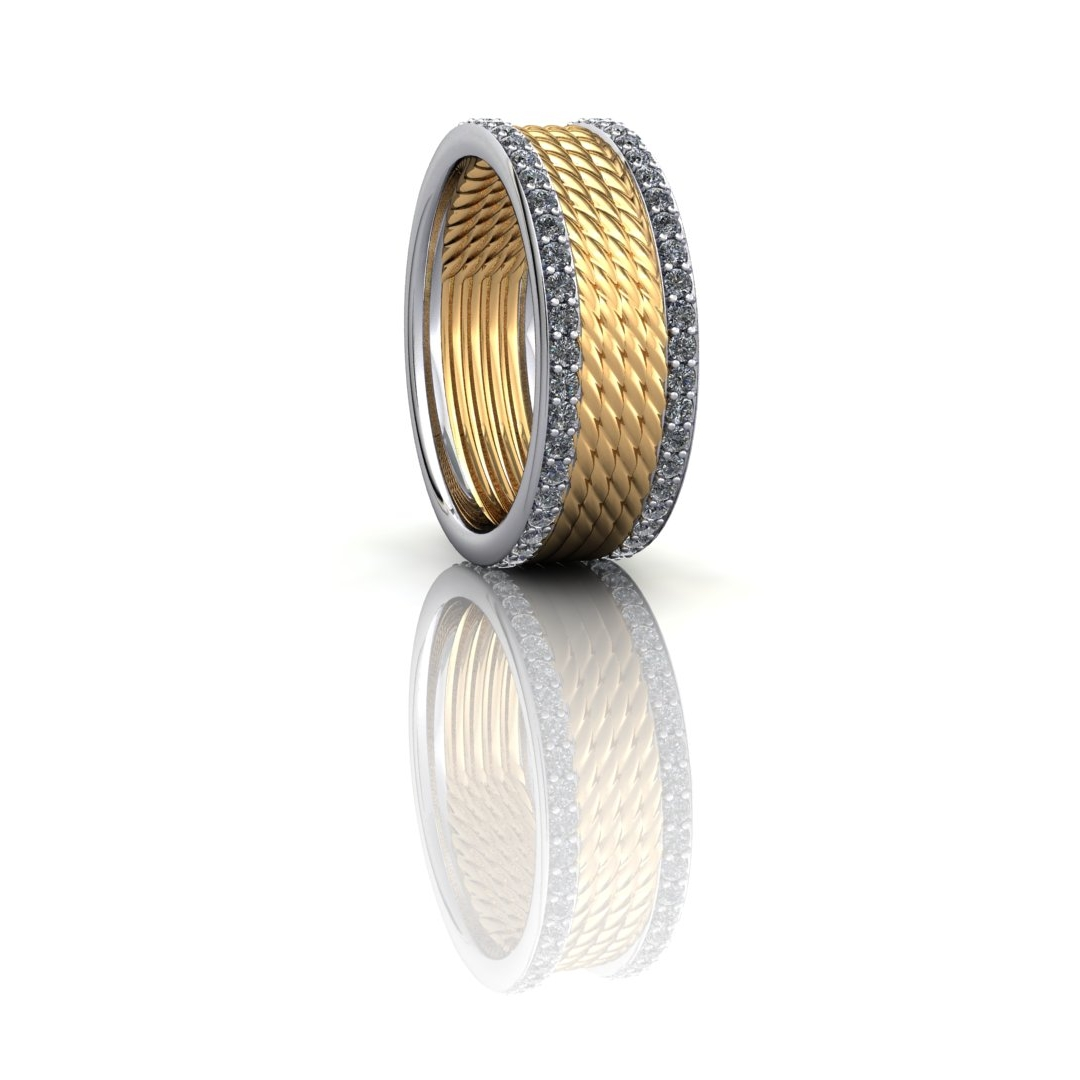 Gold and Platinum Band Ring.jpg