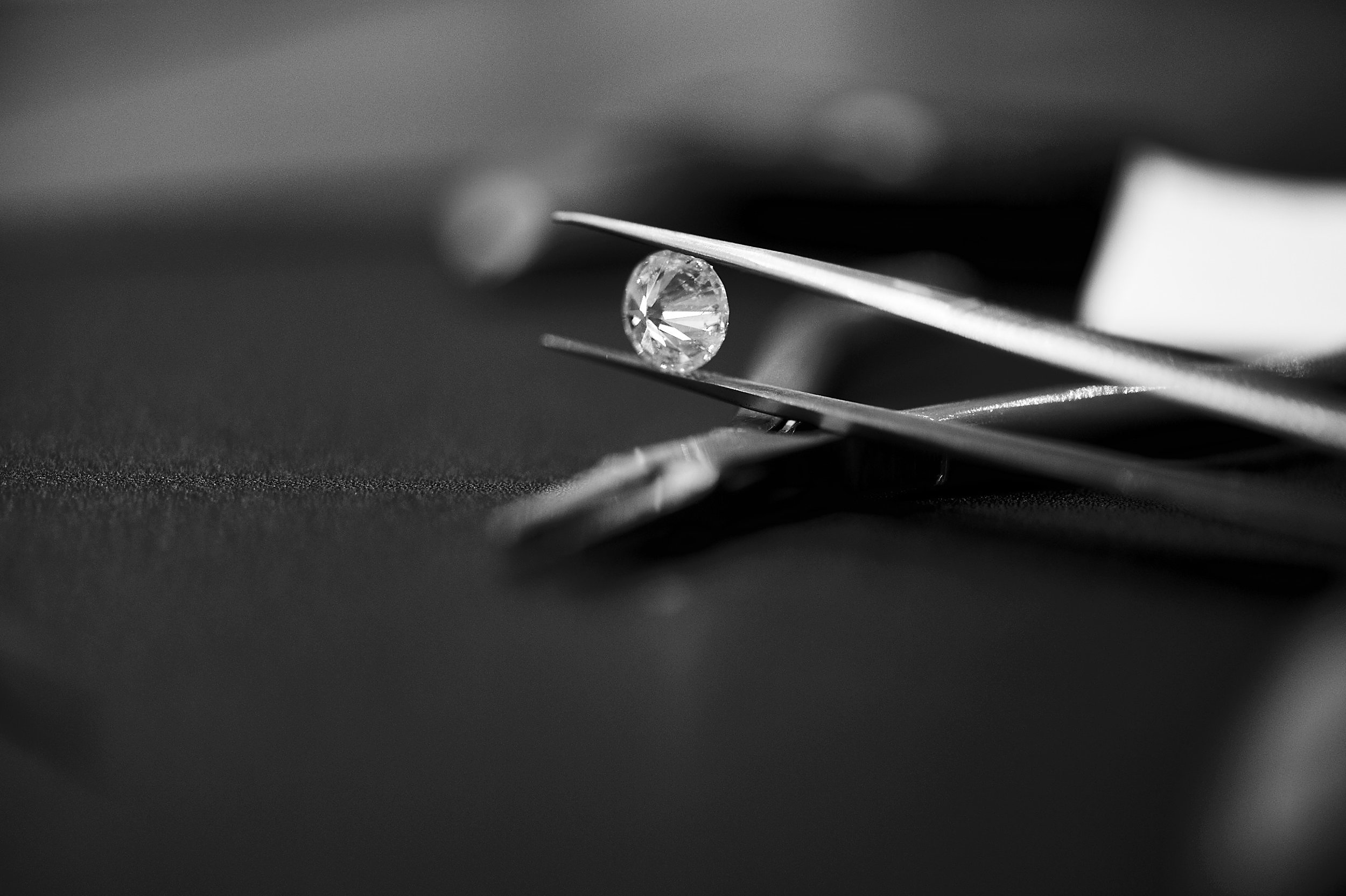 3. Choose Your Diamond - Once you've settled on your individual design, Christopher will search the world for the best diamond to suit your design and budget. You will be consulted before a final decision on any diamond is made.