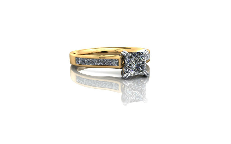 princess cut engagement ring double claw detail.jpg