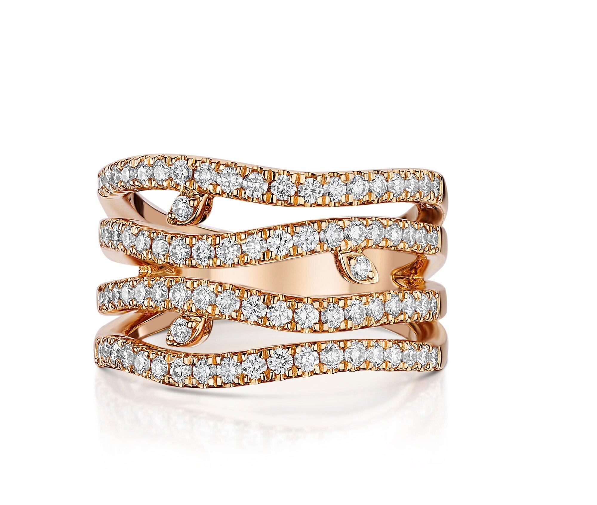 Christopher Stoner Rose Gold Diamond Ring