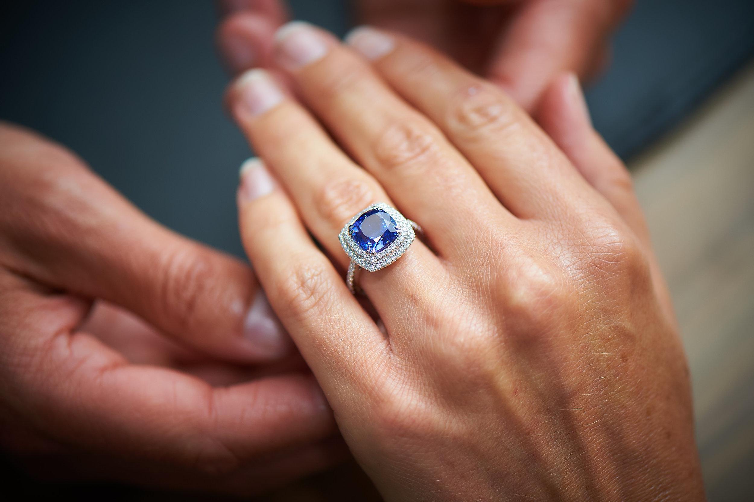 bespoke tanzanite engagement ring