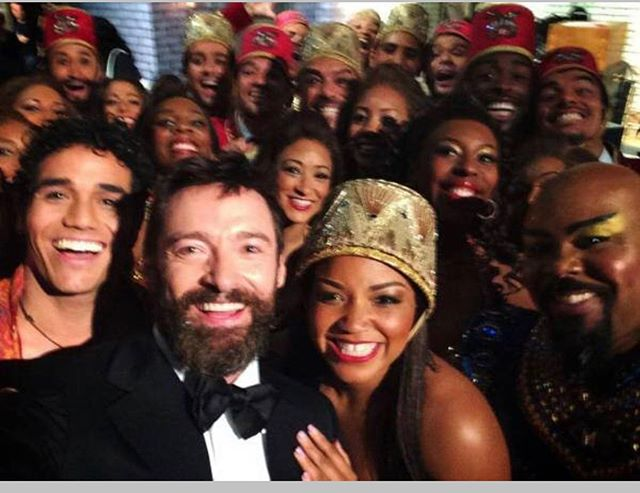 It's Tony Sunday tomorrow here is a pic from the first time I performed on the @thetonyawards with @aladdin and @thehughjackman hosting. He took this picture #swoon TOO MANY FOLKS TO TAG! But you know I love y'all. #aladdinfam