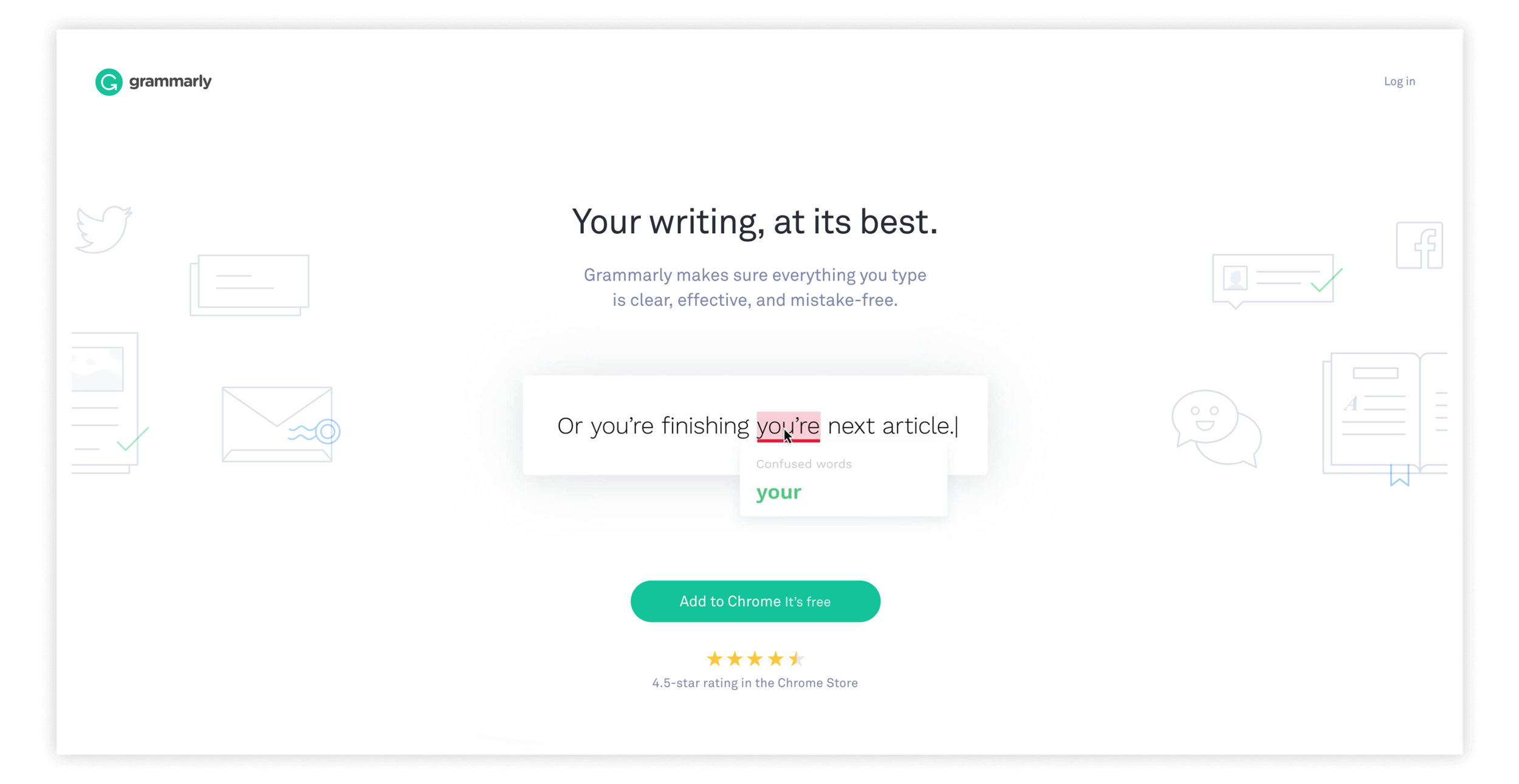 Grammarly - great example of copy use