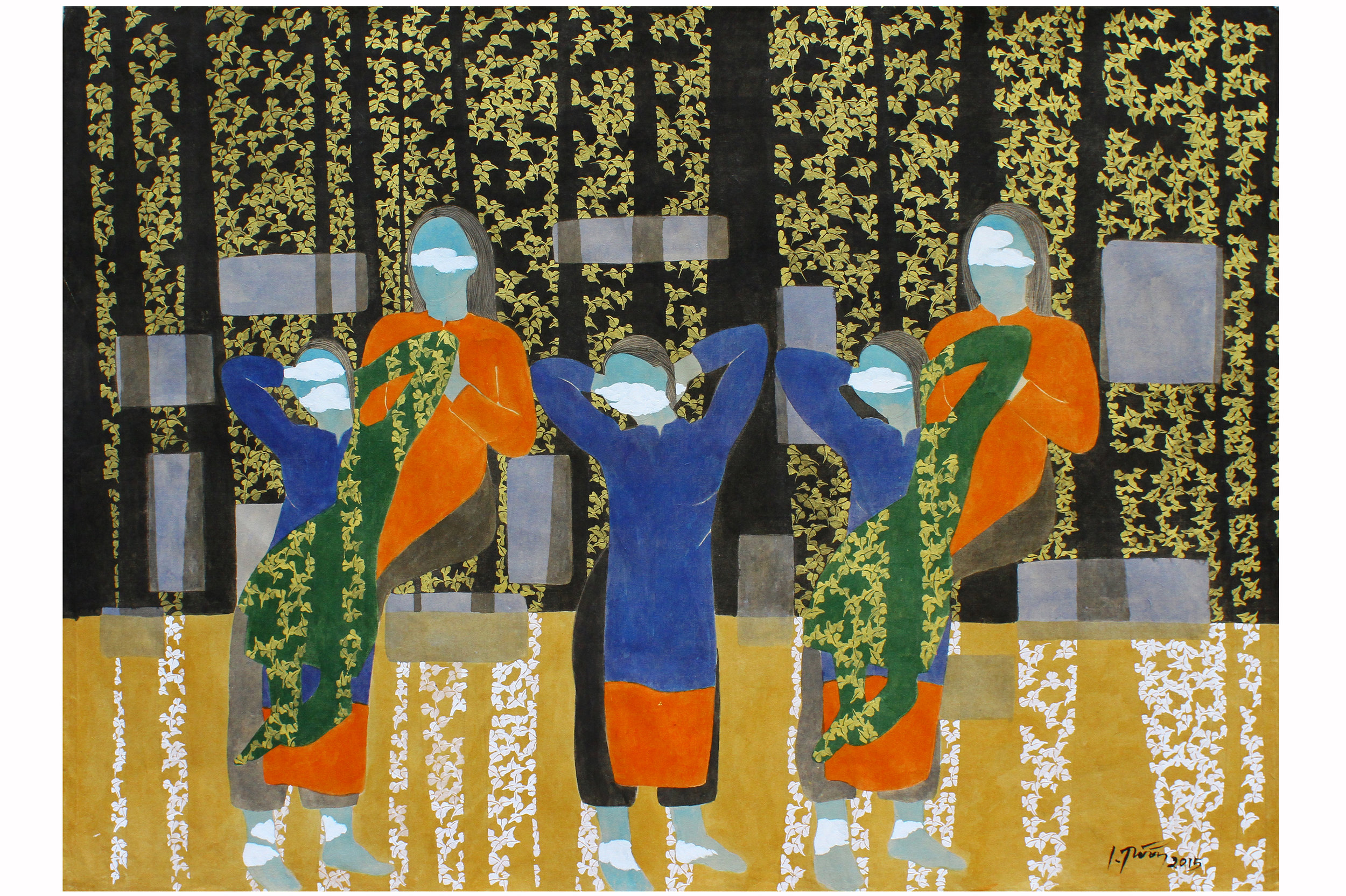 Raquelle Azran Vietnamese Contemporary Fine Art - Dinh Thi Tham Poong - Forest Ecstasies
