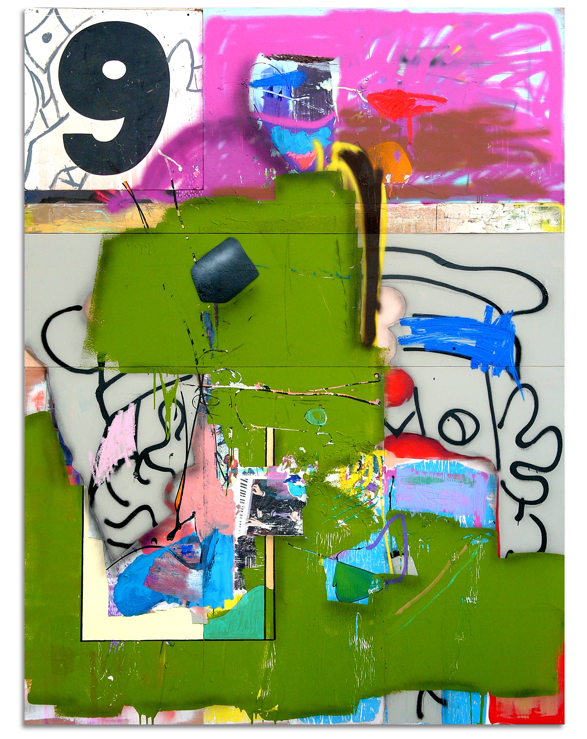 CANDEart_At Large_2017_multimedia painting with image transfer and found object on multipanel_96x72in(244x183cm).jpg