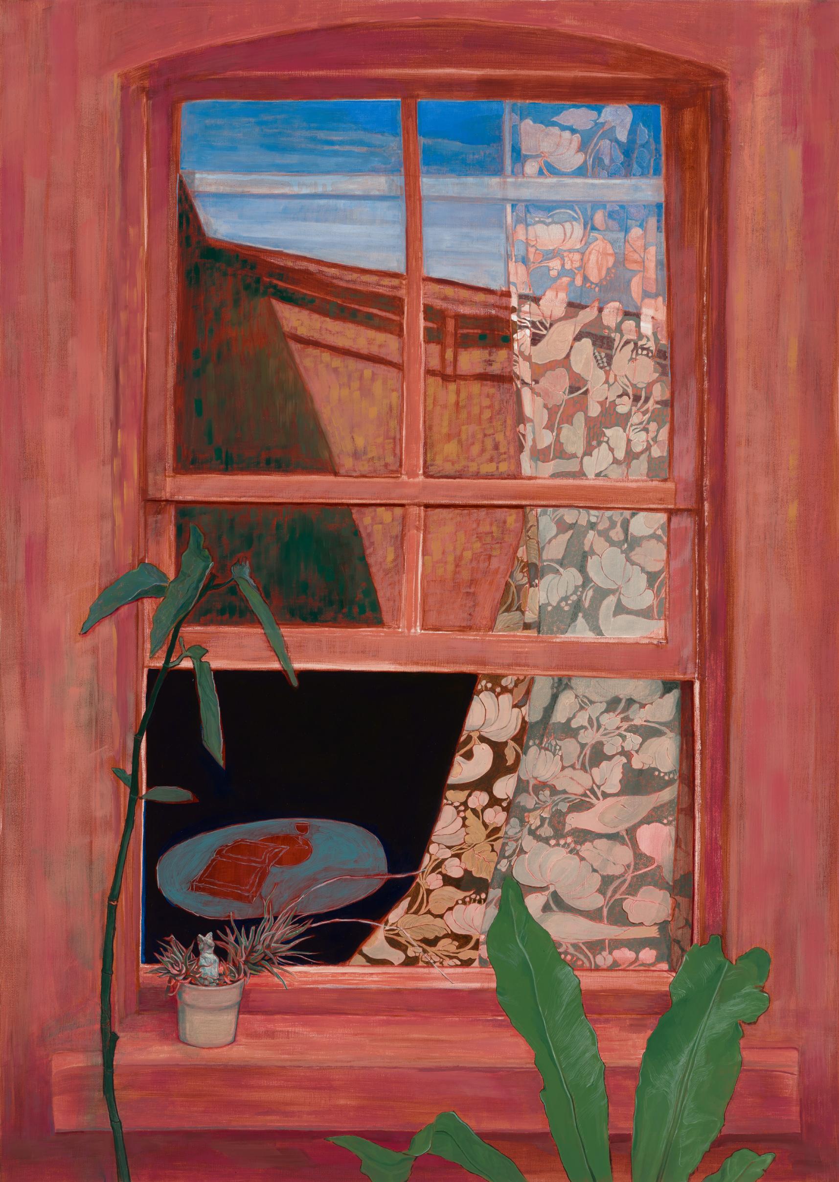 Dayan, Jesse, 'The Red Studio', Oil on Linen. 110x76cm.jpg