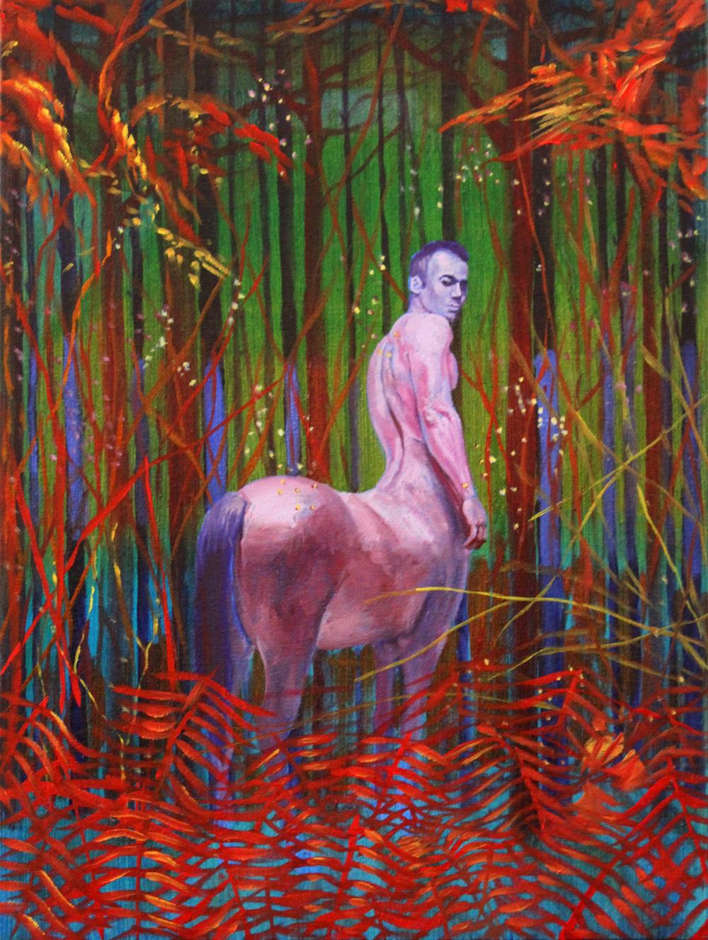 Mark Liam Smith_Crimson Stallion_oil on canvas_16x12 inches_2017.jpg