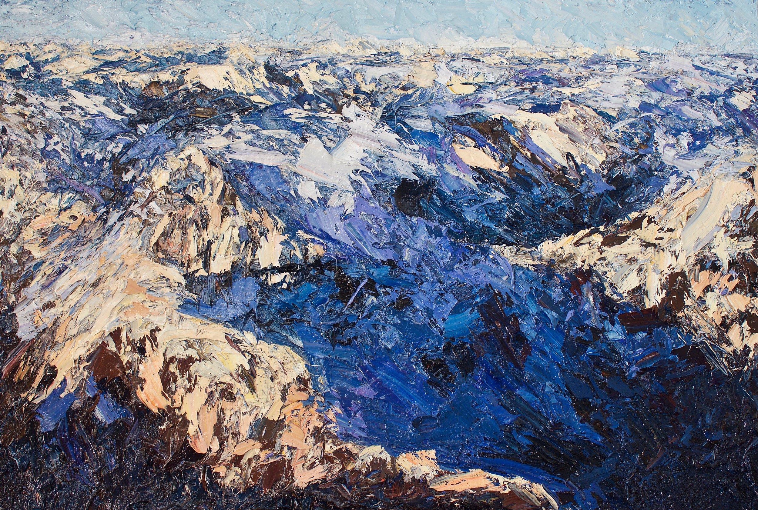 Holly Zandbergen Darren Mountains, Fiordland, 2017 oil on canvas 100 x 150 cm 39 38 x 59 18 in.jpg