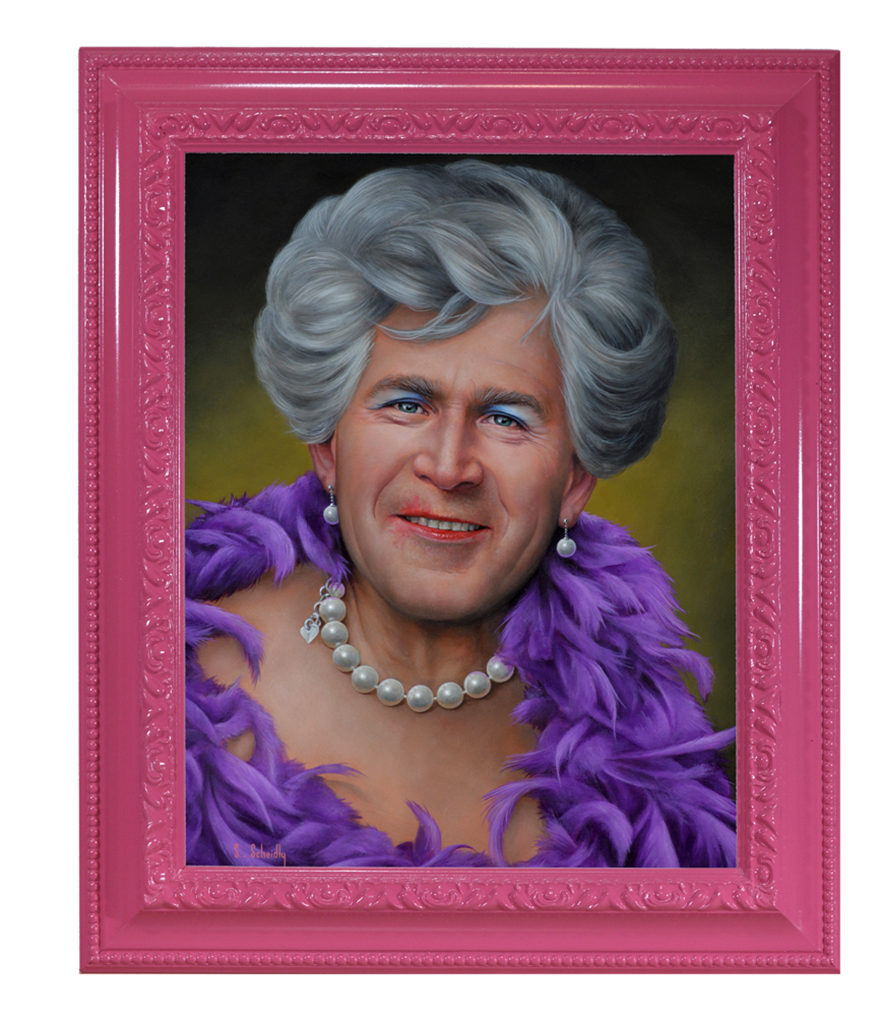 Scott Scheidly, George W (framed), 2018.jpg