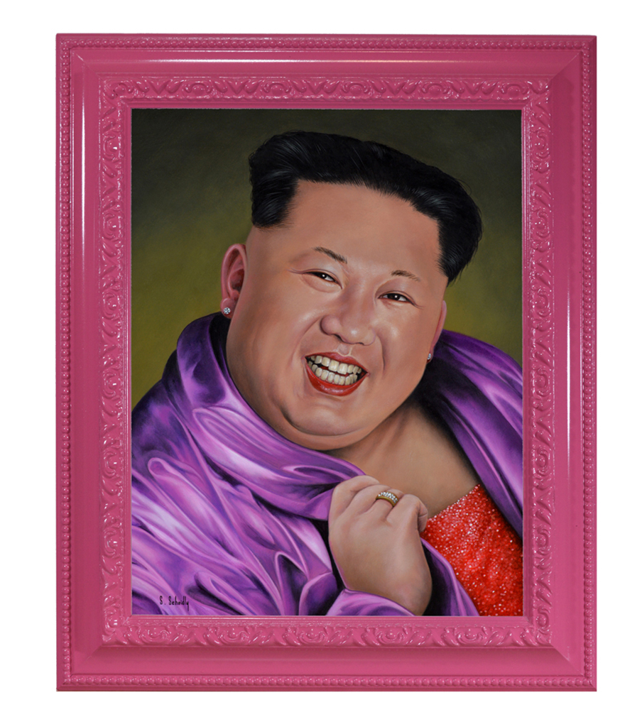 Scott Scheidly, Kim Jong Un (framed), 2018.jpg