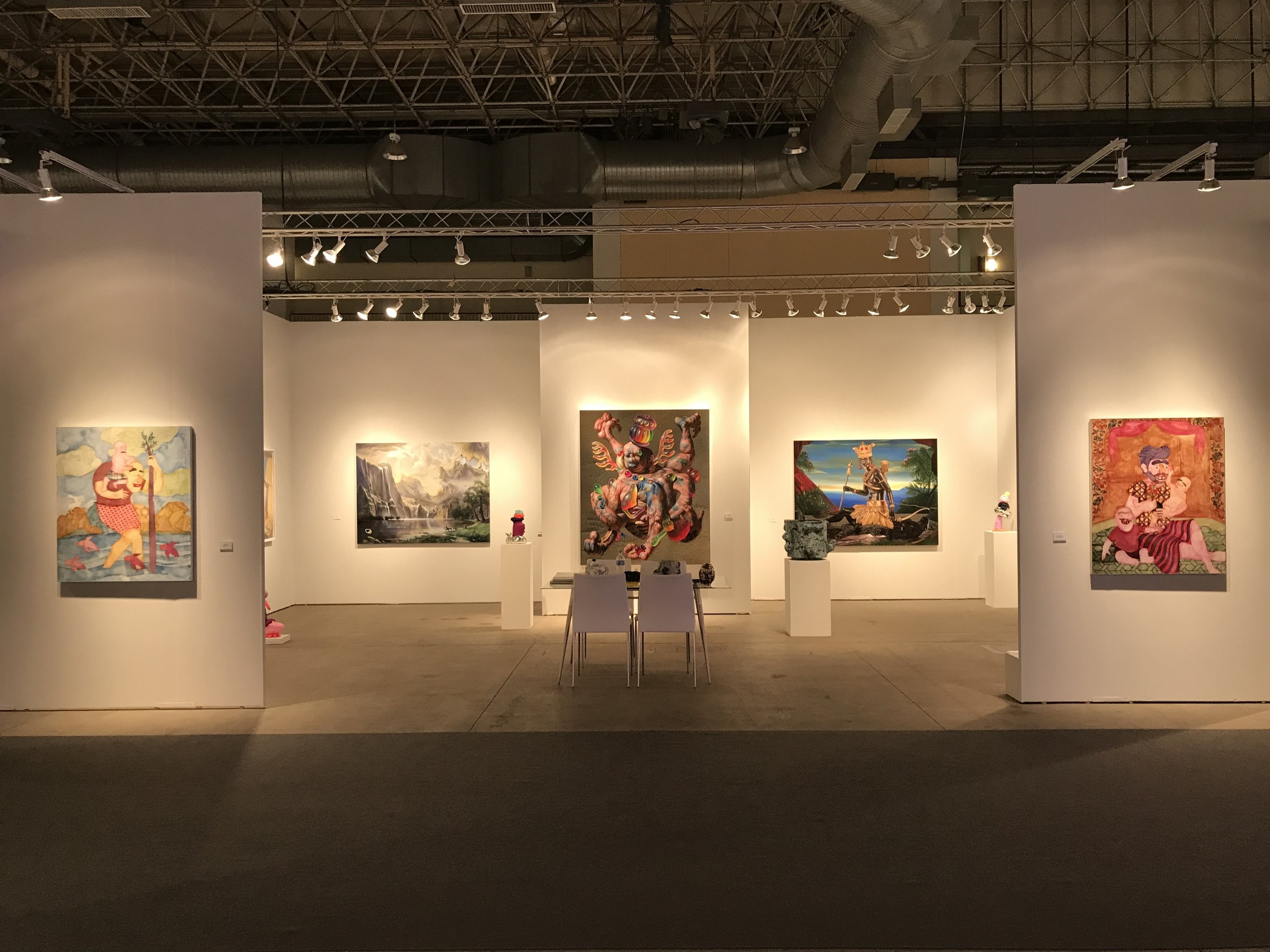 Installation view of Richard Heller Gallery booth at EXPO Chicago, 2018. Image courtesy of the gallery.