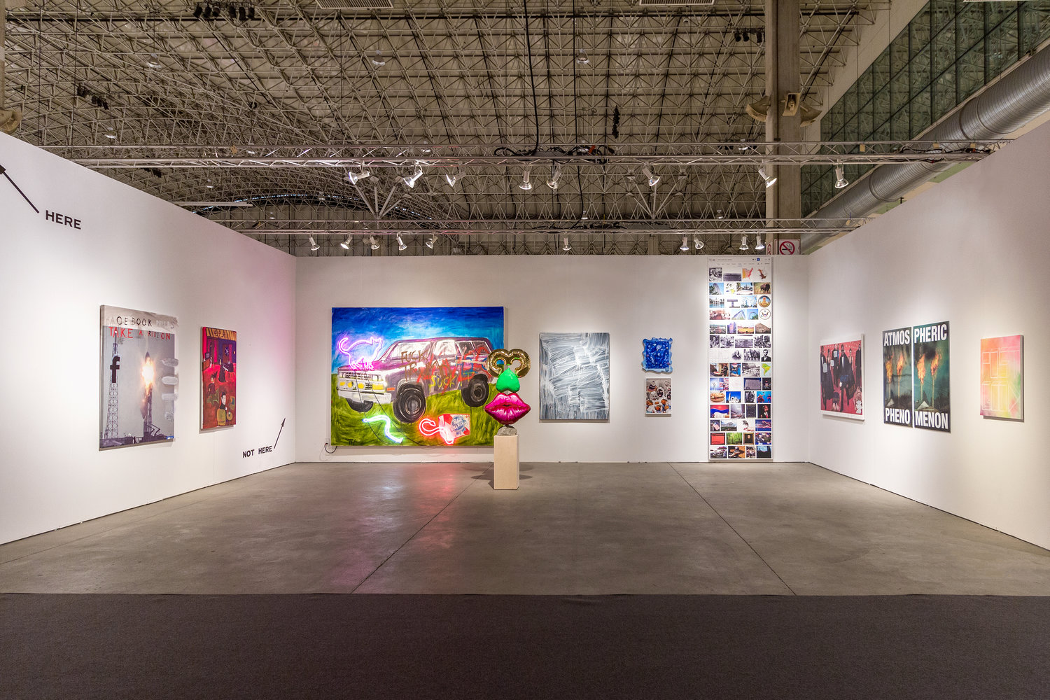 Installation view of Library Street Collective booth at EXPO Chicago, 2018. Image copyright Library Street Collective.
