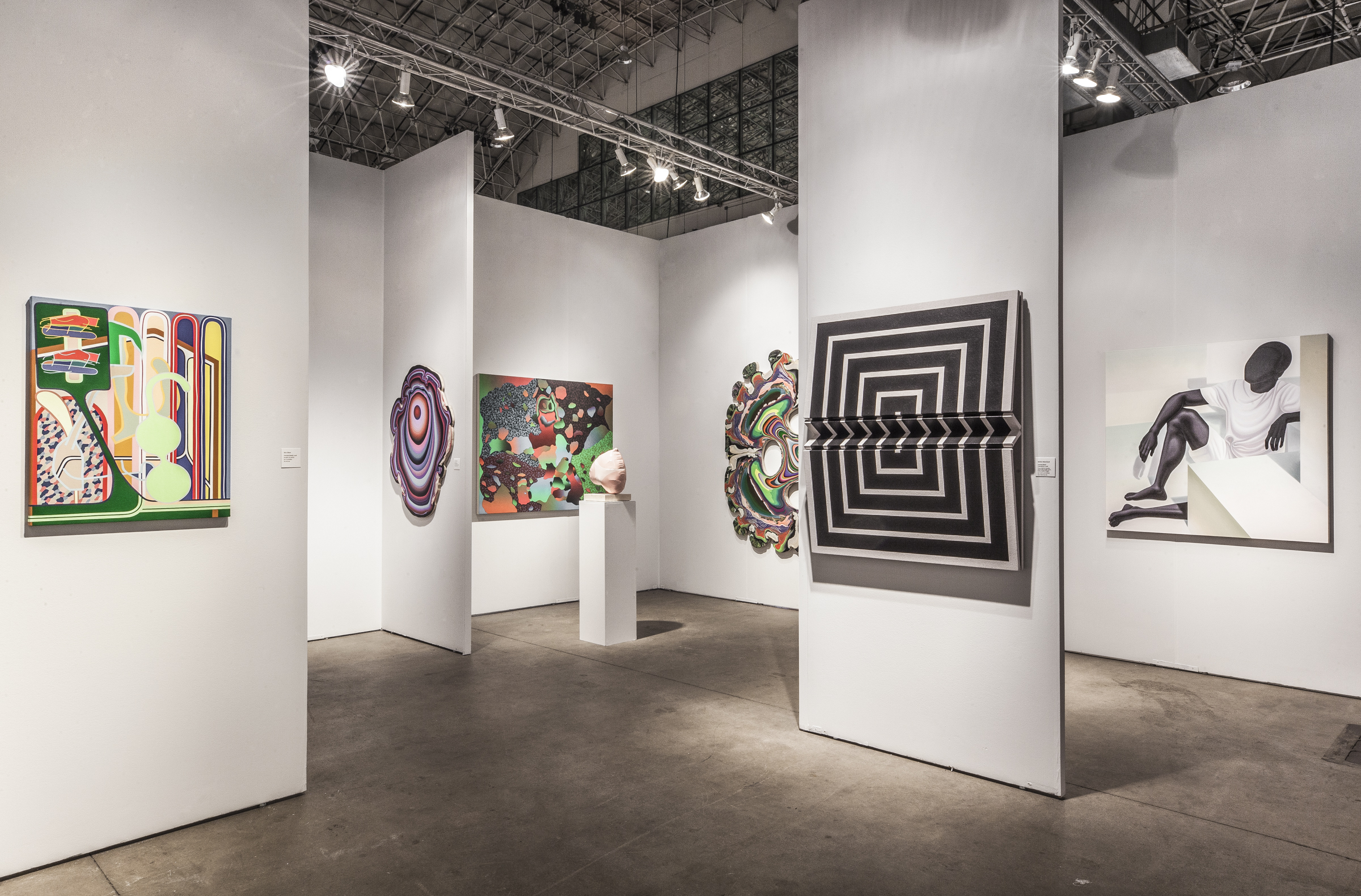 Installation view of The Hole, NYC booth at EXPO Chicago 2018. Courtesy of The Hole, NYC.