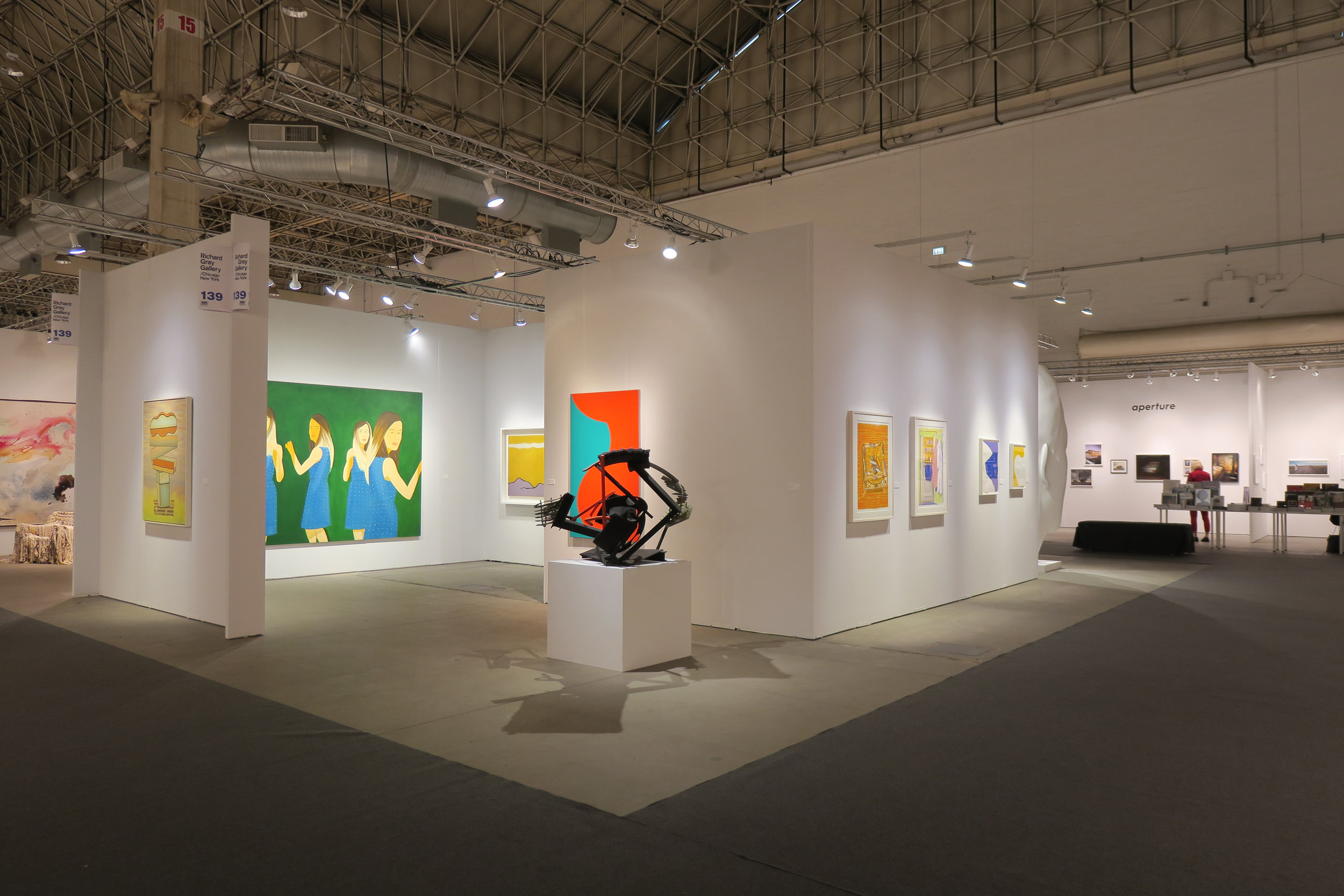 Installation view of Richard Gray Gallery booth at EXPO Chicago, 2018. Image courtesy of Richard Gray Gallery.