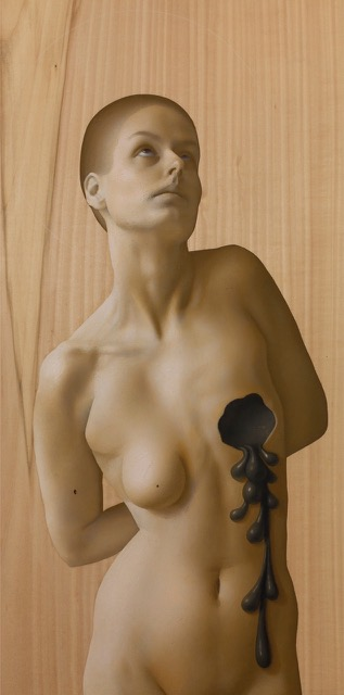 Kle Mens, St. Agatha with breast cut off, oil on panel, 54x27 cm, 2015 .jpeg