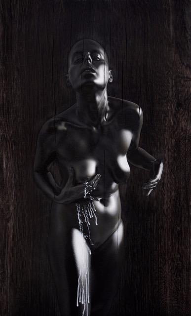 Kle Mens, Madonna Lactans, oil on panel, 36 x 60 cm, 2017.jpeg