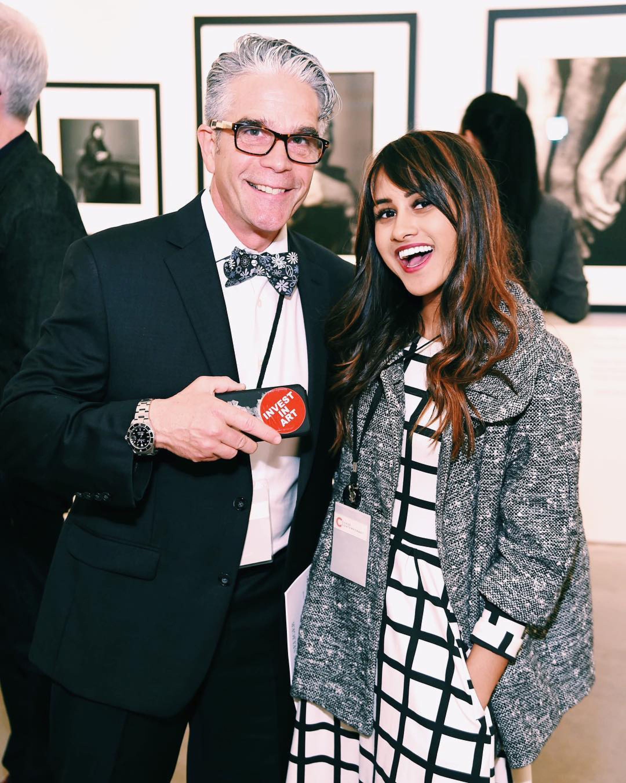 Eliza Sara Ali with Christopher Pusey at the Mark Seliger Show in Spring 2018, Chase Contemporary