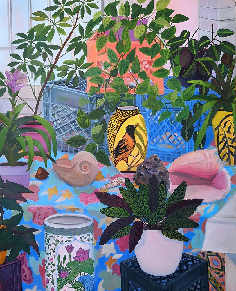 Anna Baldez, Bird Vase in Studio, 2019.jpg