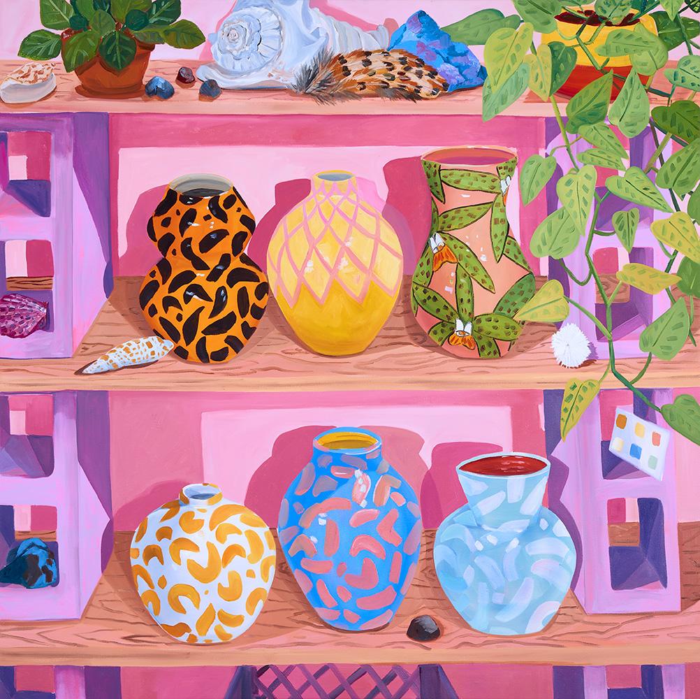 Anna Valdez, Vessels on Studio Shelves, 2019.jpg
