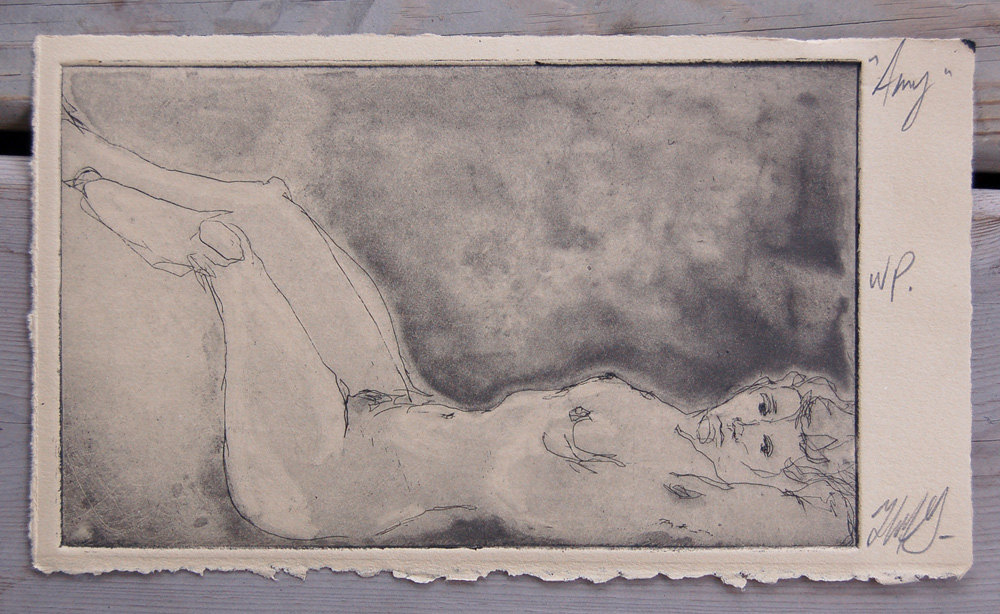 """Amy"" 9.5w""x5.5h"" Etching.  $175.00"