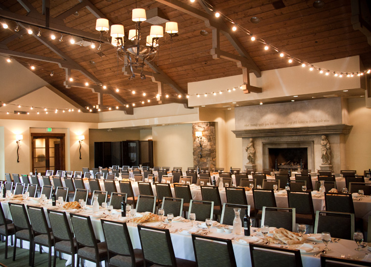 photo of garden ballroom set for a large meeting