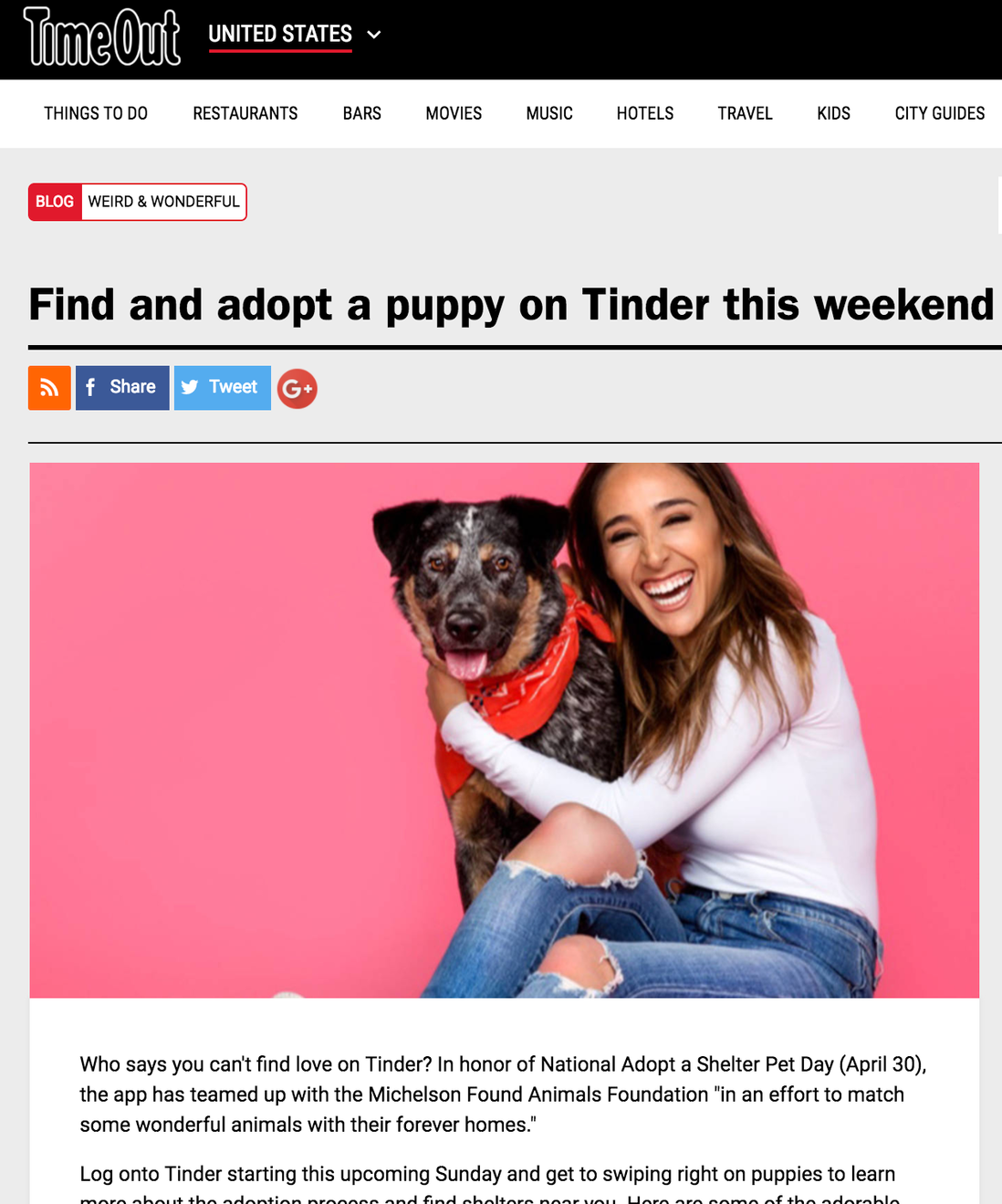 Timeout - Adopt a Puppy on Tinder-Influencer Collaboration
