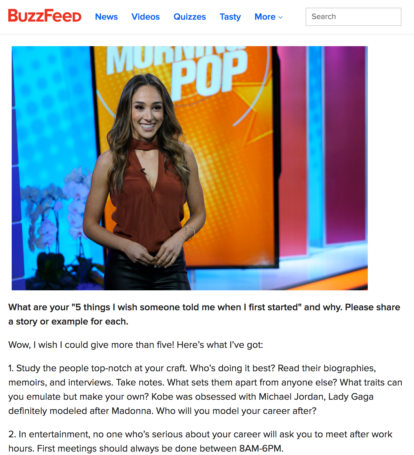 Buzzfeed - Interview With TV Anchor Danielle robay