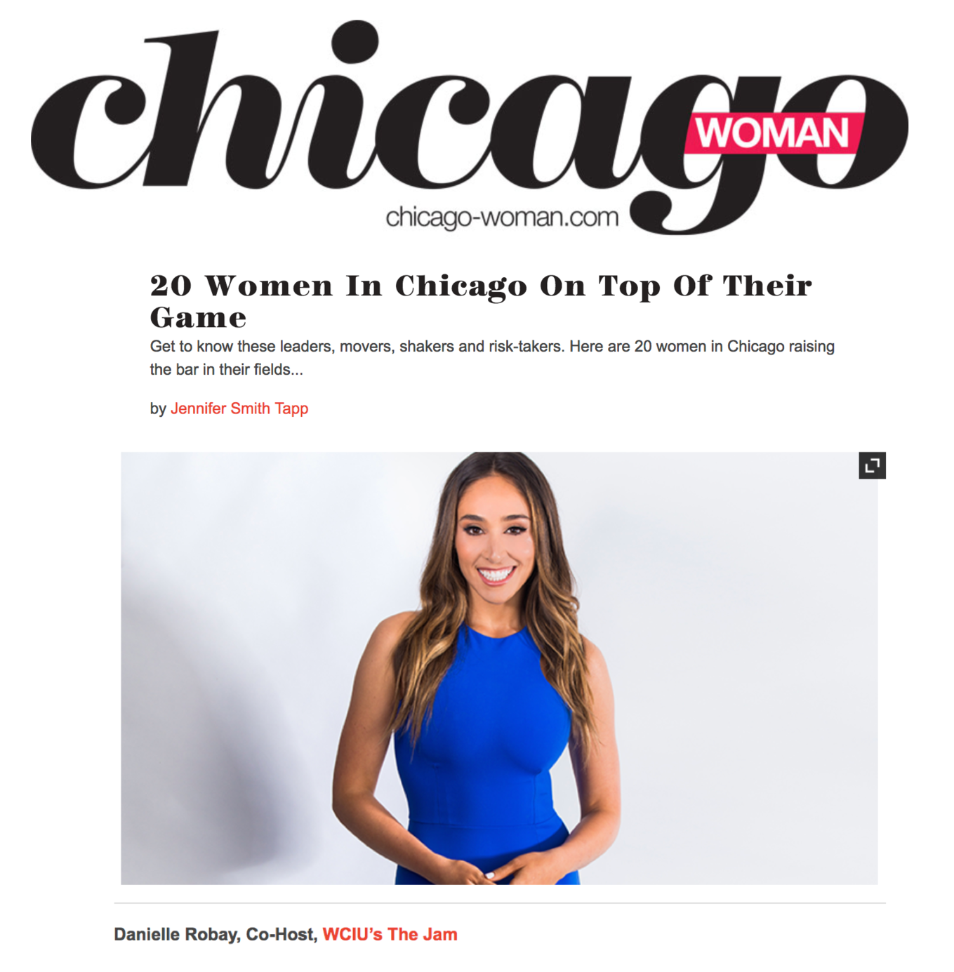 Chicago Woman - 20 Women Raising The Bar in Their fileds
