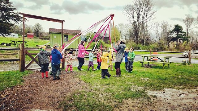 #EarlyChildhood class performing the #Maypole #Dance for grandparents and their Special Friends at the #Ithaca #Waldorf #School on #GrandparentsDay #whywaldorfworks