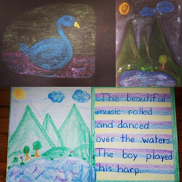 Day 7. Chalkboard drawing. 1st grade. So cute! #Ithaca #Waldorf See here #whywaldorfworks! Join us in posting! Tag us @ithacawaldorf and hashtag #Waldorf100Windows #Waldorf100 // @waldorfschooloflexington @daviswaldorfschool @uppervalleywaldorfschool