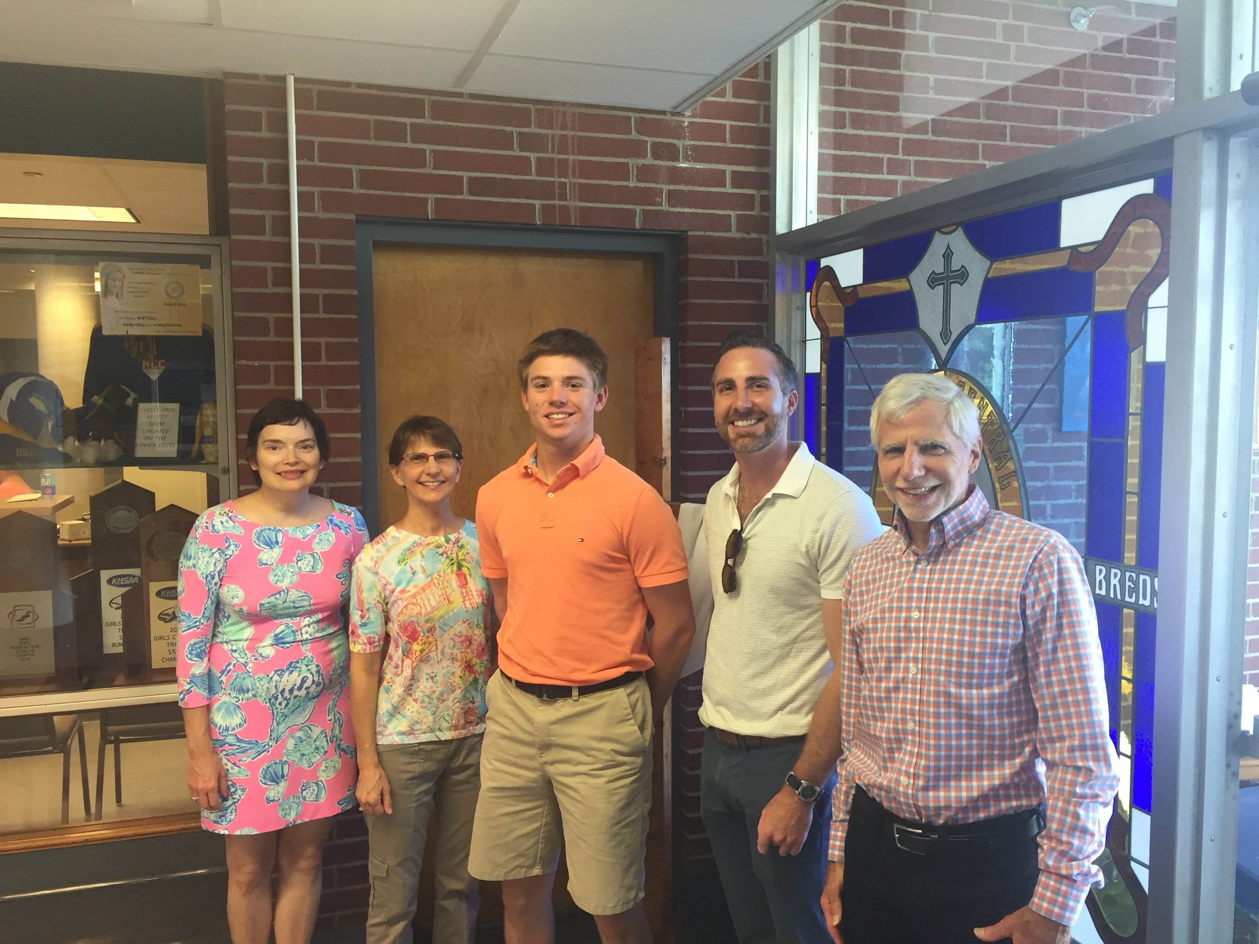 NCCHS Senior Robby Shondel recipient of Len and Charlotte GeigerMemorial Scholarship.