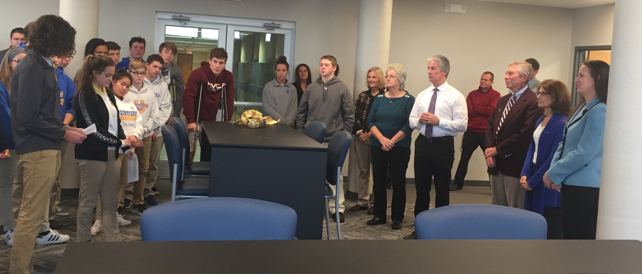 On behalf of the Student Body, members of Student Government thanked the Brennan/Enzweiler Family for their passion and continued support of NCC.