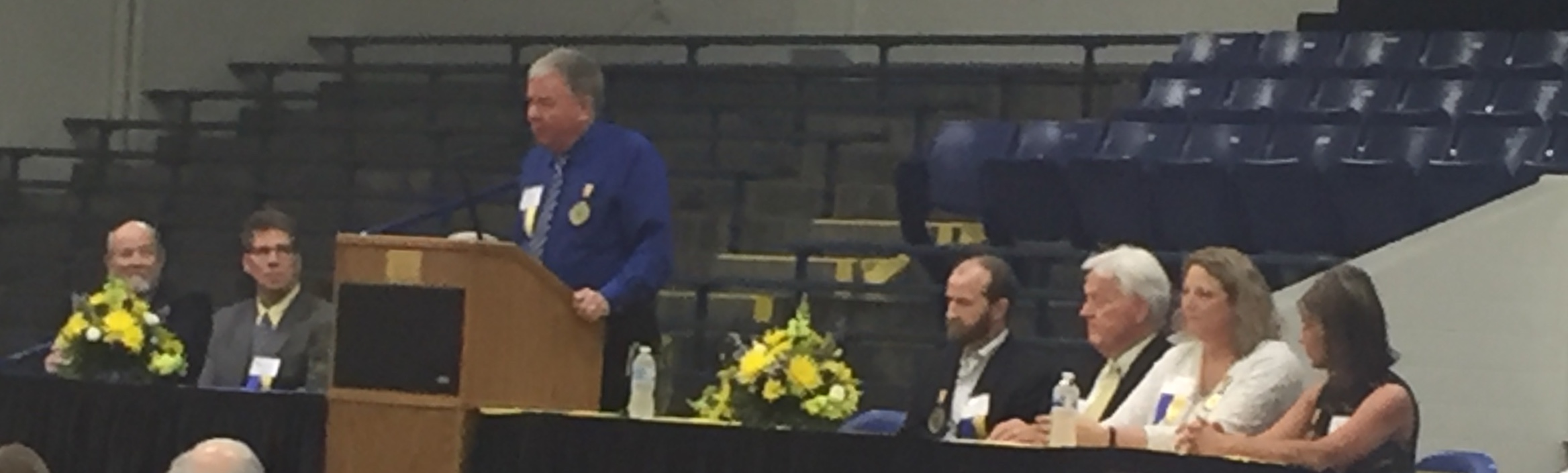 The  Fr. John Hegenauer Community Service Award was awarded to  Mr. Greg Ziegler   '  73  for his commitment to the family values NCCHS strives to impart to its students.