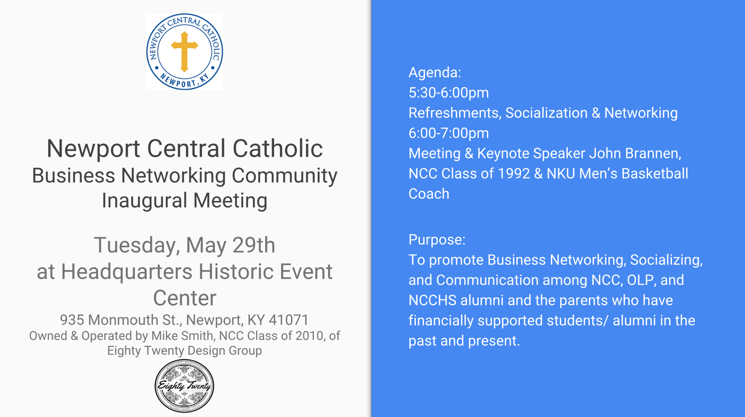 The Business Networking Group of NCC hopes to see you there!