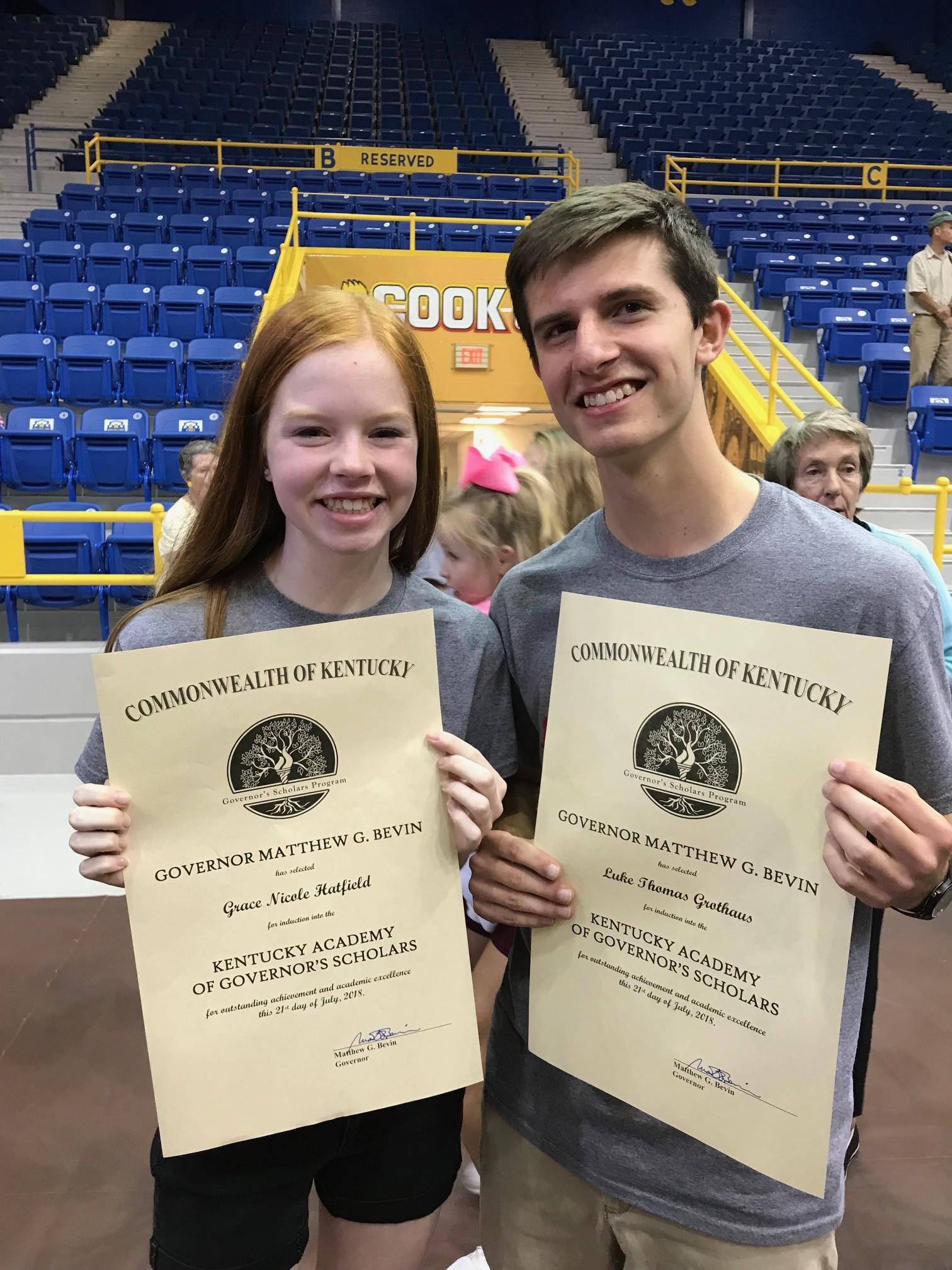 Grace Hatfield and Luke Grothaus at Morehead State University