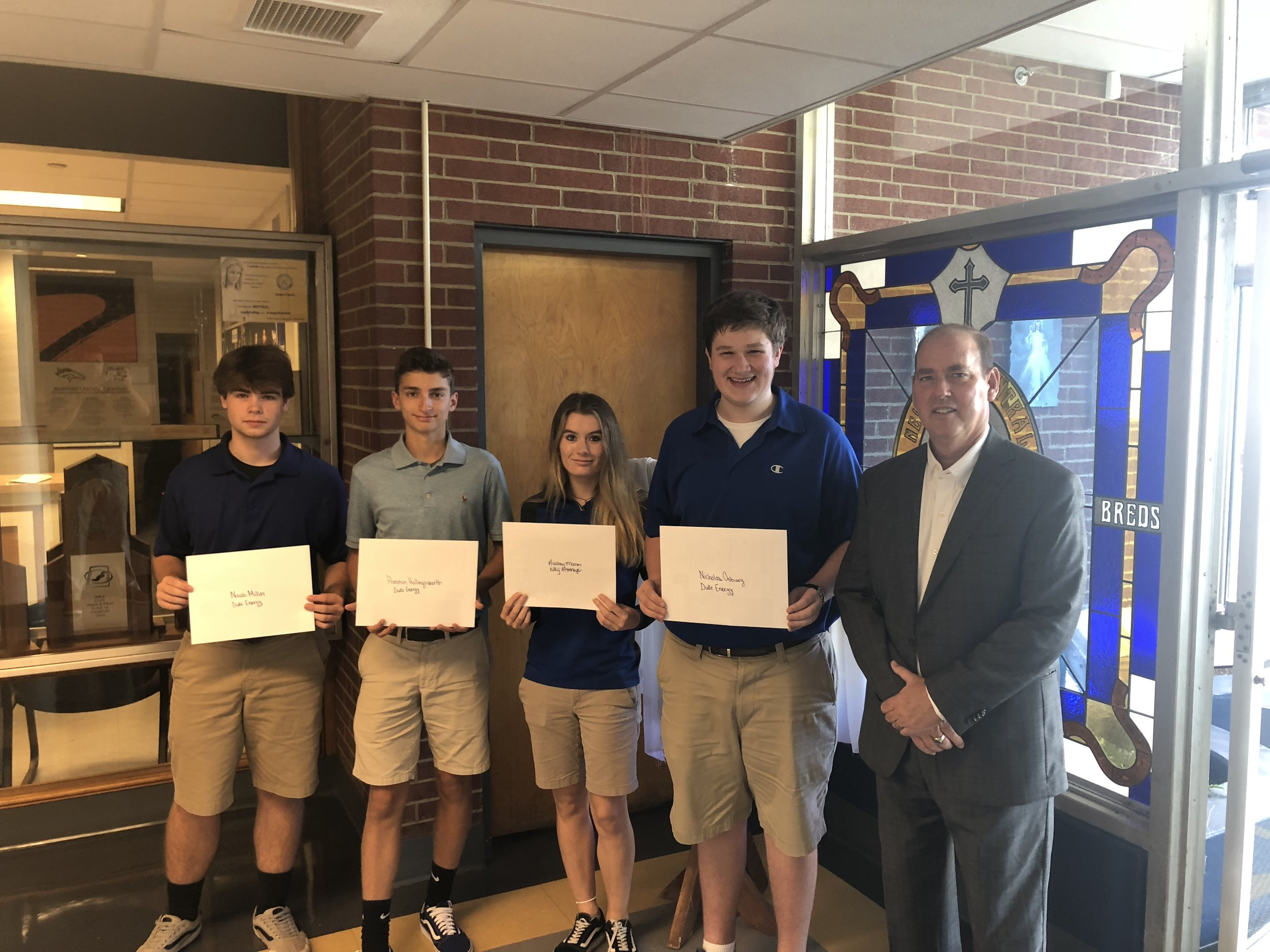 Noah Miller, Preston Hollingsworth, Audrey Marron, and Nick Osburg were notified by Tim Hanner, Founder and Senior Director of NaviGo, of their selection into this highly competitive career prep program.