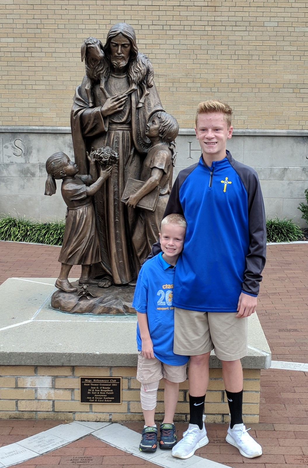 Little Brother, Mason Drury was excited to have his big brother Dominic come to visit his school, St. Thomas.