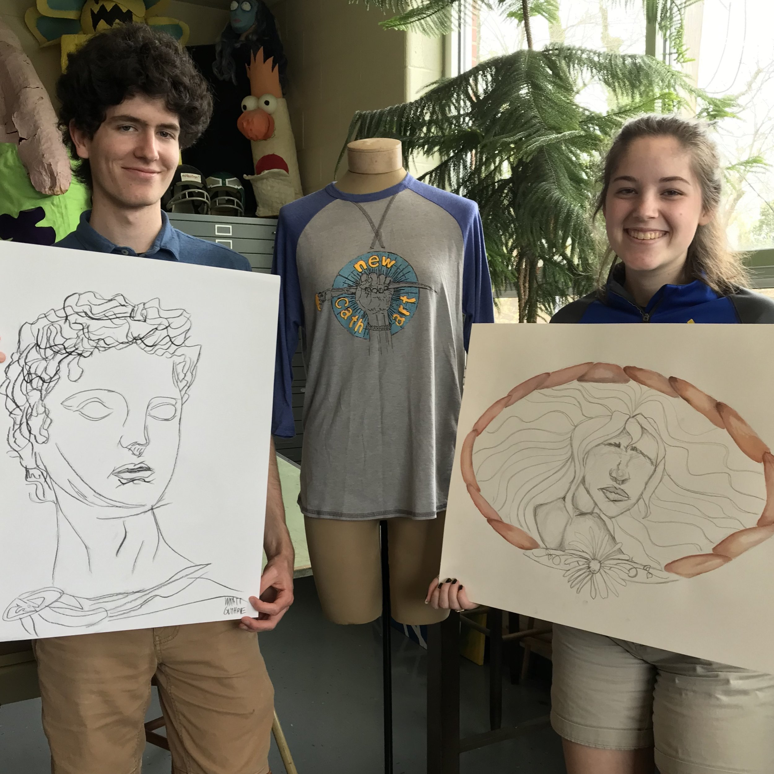Wyatt Guthrie has been selected to participate in the 2019 Governor's School for the Arts program in the discipline of Visual Art. Junior Grace Kessen has been selected as an alternate.