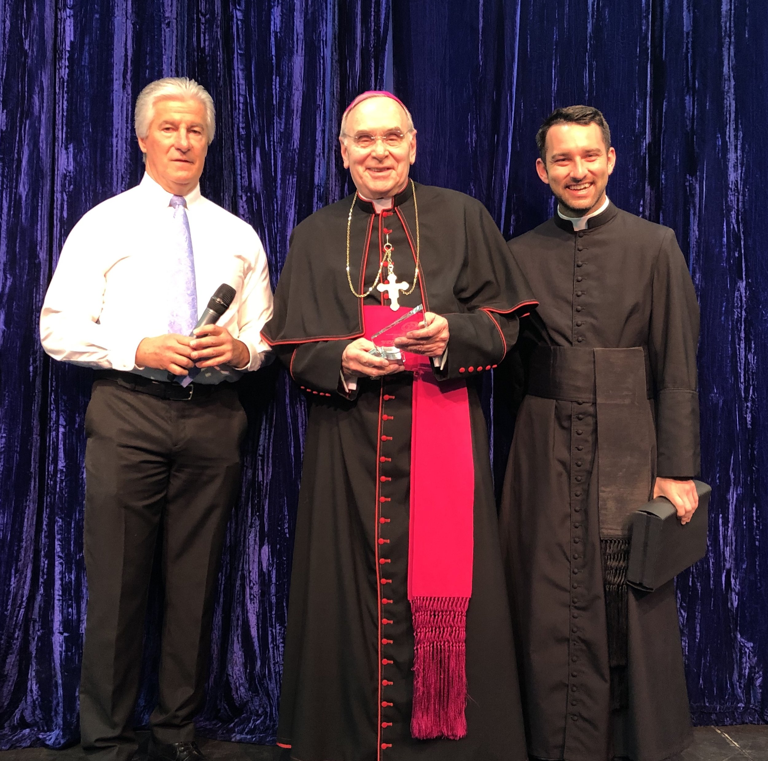 """Bishop Foys believes in the value of a catholic education and he has been extremely supportive of our mission here at Newport Central Catholic. We are very thankful for all he does for our school community."""