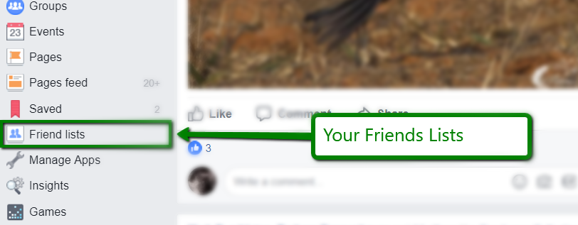 Finding the Facebook Friends Lists