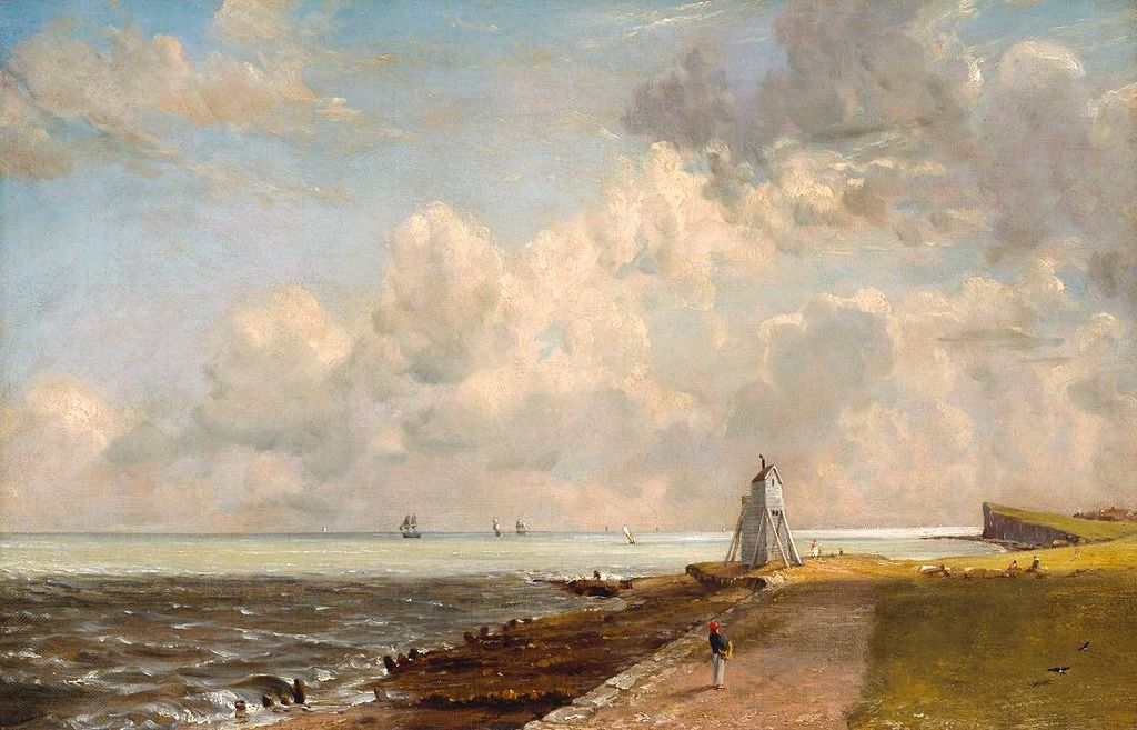 Harwich Lighthouse, John Constable, 1820 via Wikimedia Commons  Light and dark, lines broken in thirds, warm and cool...this picture by John Constable exhibits the Rule-of-thirds.