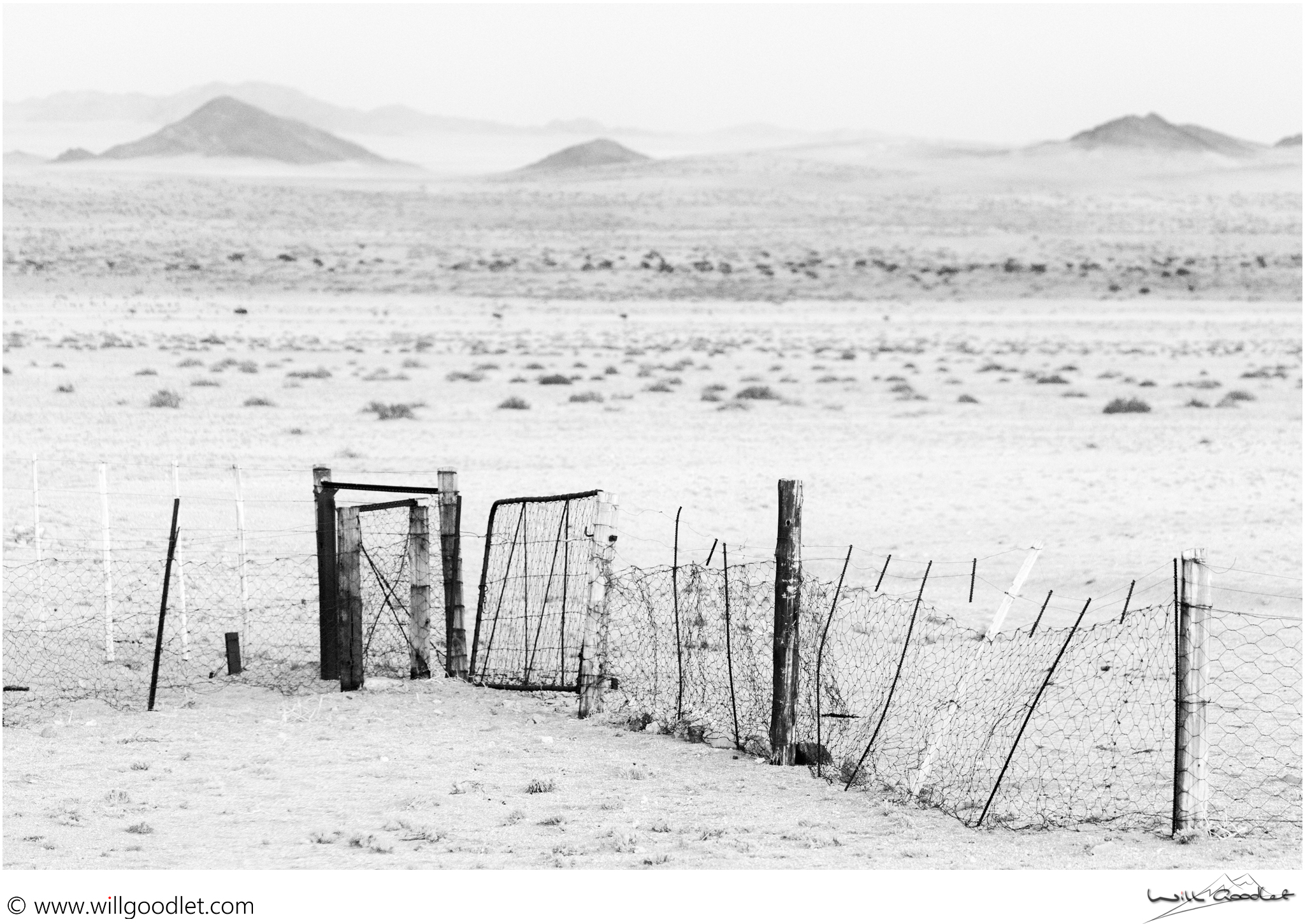 The last fence. Aus, Namibia.