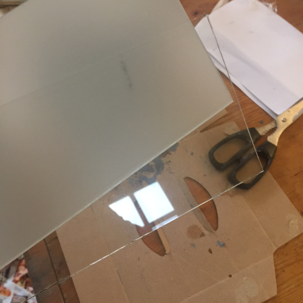Ground glass before and after