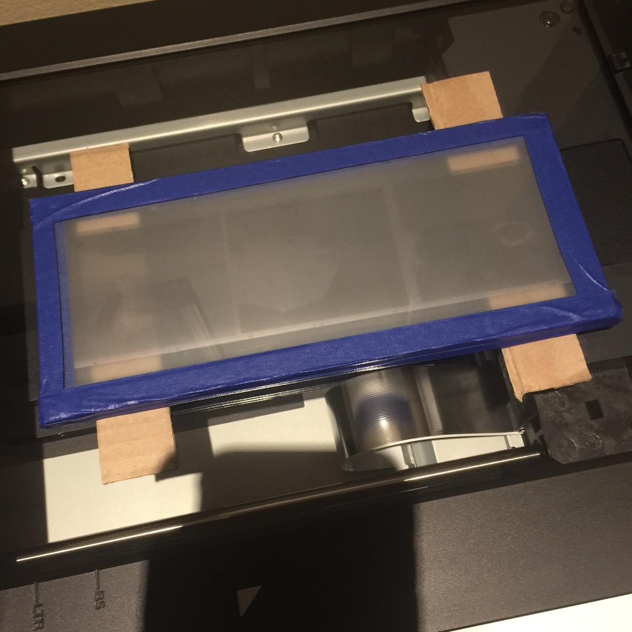 Slide carrier on Epson v750 flatbed